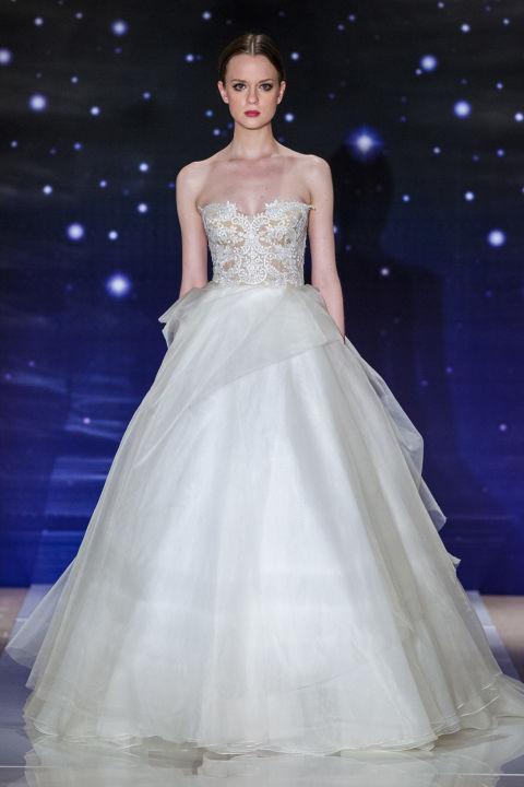 a vonalú menyasszonyi ruha - REEM ACRA